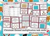 Christmas themed multiplication Task Cards