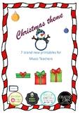Christmas themed printables