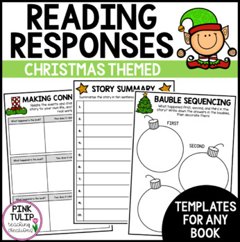 Christmas Themed Reading Activities - Summarizing, Sequencing and Connecting