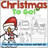 Christmas Literacy and Math