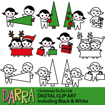 Christmas to do list clip art