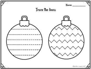 Christmas tracing trace fine motor skills Flash Freebie