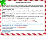Christmas treasure hunt activities