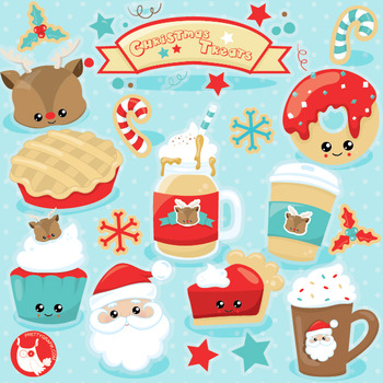 Christmas treats clipart commercial use, vector graphics, digital  - CL1031
