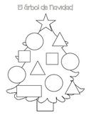 Christmas tree Basic Shapes - El arbol de navidad Las formas
