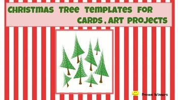 Christmas tree Card template  Quick and Easy Prep   ART  versatile