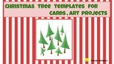 Christmas tree Card template  Quick and Easy Prep   ART  v