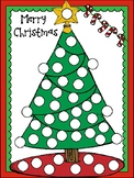 Christmas tree and snowman dot paint pages