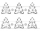 Christmas tree crafts. Crowns, 4-sided paper tree, bookmar