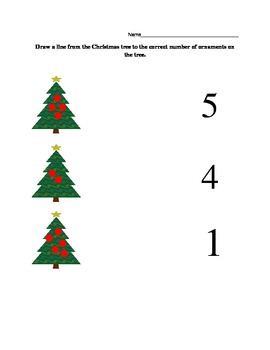 Christmas tree number matching