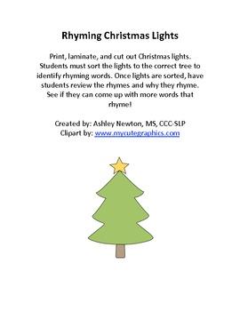 Christmas tree rhymes