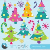 Christmas trees clipart commercial use, vector graphics - CL594