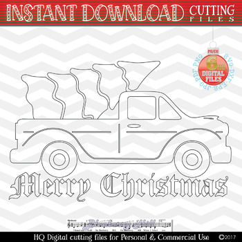 Personal Commercial Use svg dxf png jpg eps files Christmas Truck SVG Disney character .Clipart Digital Clip Art Graphics