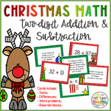 Christmas Two-digit Addition and Subtraction Task Cards
