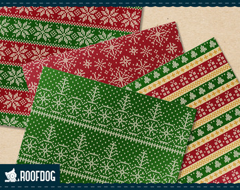 Christmas ugly sweater—Chunky red and green