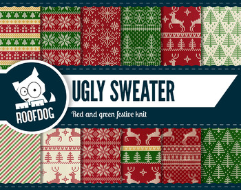 Christmas ugly sweater—Red and green