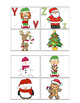 Christmas uppercase and lowercase letter match puzzles