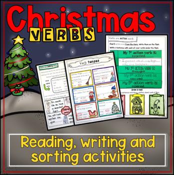 Christmas verbs mini packet