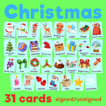 Christmas vocabulary 2in1