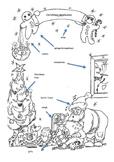 Christmas vocabulary English (Xmas) + colouring + coloring fram + template