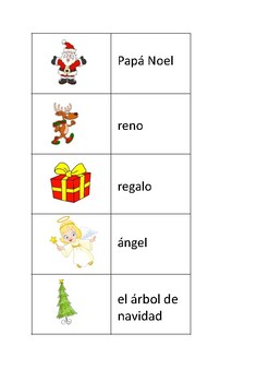 Christmas vocabulary, Spanish