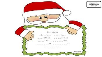 Christmas vocabulary book