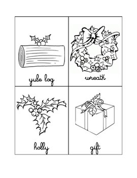 Christmas vocabulary booklet