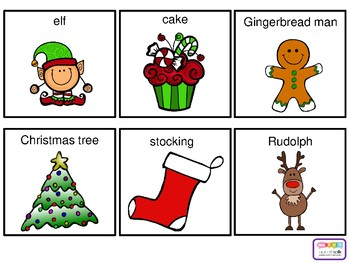 Christmas vocabulary cards