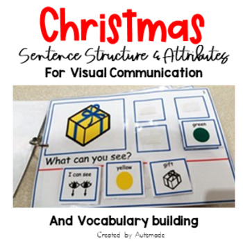 Christmas vocabulary interactive workbook