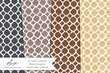 Christmas watercolor background, holiday pattern, background, xmas, quatrefoil