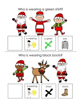 """Christmas """"who"""" Questions Interactive Book Freebie"""