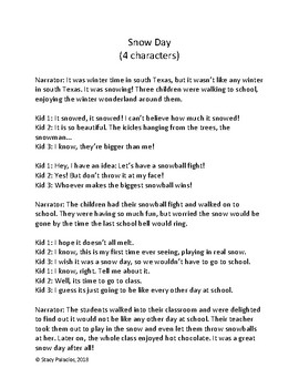 Christmas winter Readers theater scripts