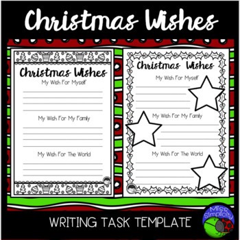 Christmas wishes ~ writing template ~ 2 designs