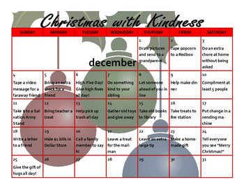 Christmas with Kindness Calendar