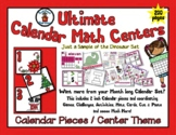 Christmas with Santa - Month of Math Centers & Calendar Pi