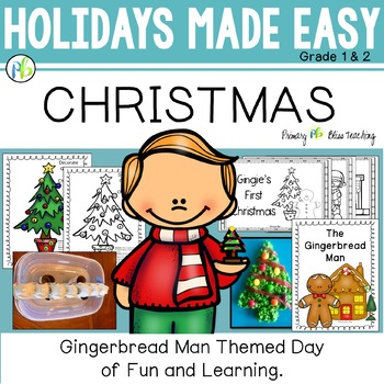 Christmas with The Gingerbread Man - Holidays Made Easy (First and Second Grade)