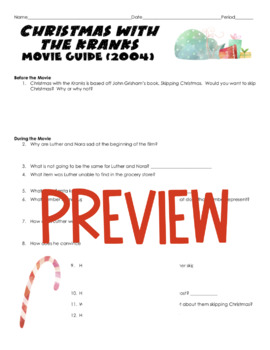 Christmas with the Kranks Movie Guide (2004)