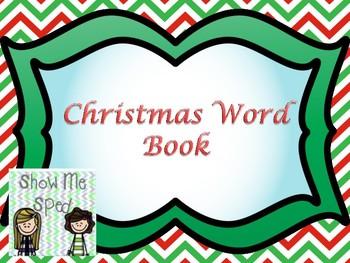 Christmas word book