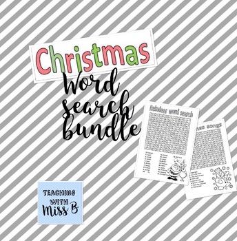 Christmas word search bundle!
