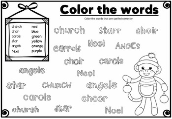Christmas words: Spelling activities - FUN and HANDS-ON!