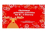 Christmas words printable literacy activities