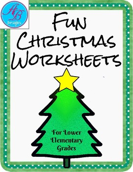 Christmas worksheets.
