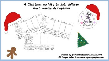 Christmas writing and Cut & Paste activity.