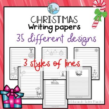 Navidad writing paper Christmas