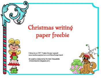 Christmas writing paper (free)