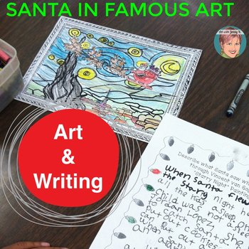 christmas coloring pages and christmas writing santa in famous art
