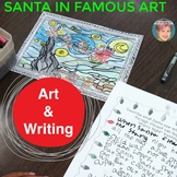 Christmas Coloring Pages and Christmas Writing - Santa in