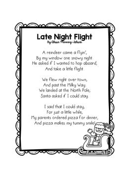 Christmas Fluency Building Poems Freebie