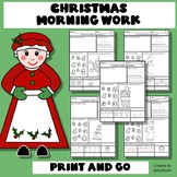 Christmas Math Worksheets Counting Numbers 1-5