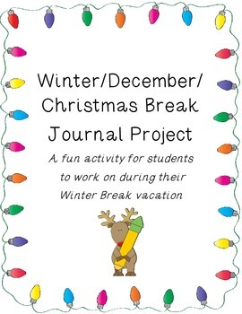 Christmas/December/Winter Vacation Journal: Holiday Lights Theme